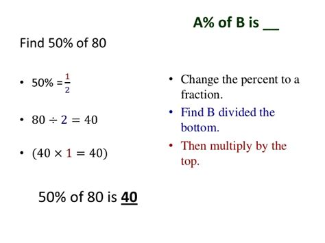 How To Search A Number Percent Of A Number With Fractions And Mixed Numbers Introduction
