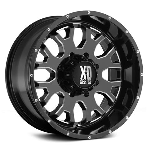 xd series wheels xd series 174 menace wheels gloss black with milled accents