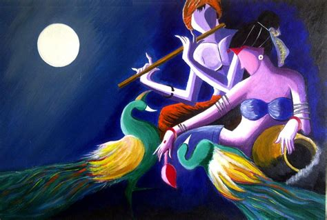 modern art paintings  radha krishna