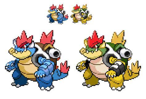 Kaos The Evolution Of Mario bowsergatoise bowser feraligatr blastoise fusion by