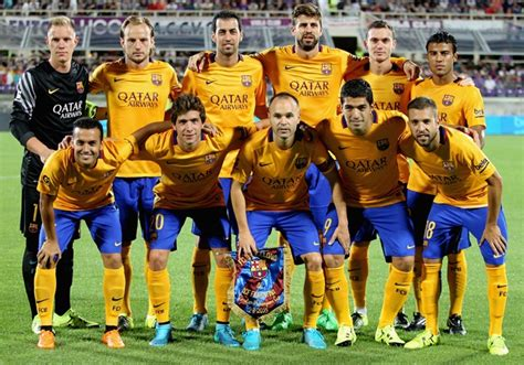 Calendario F C Barcelona 2015 Dorsales De La Plantilla Fc Barcelona 2015 16 Sportyou