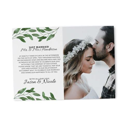 Wedding Announcement Cards Uk by Elopement Announcement Cards Wedding Announcement Cards