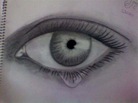 imagenes de ojos realistas para dibujar ojo con una lagrima por eduardojesus dibujando