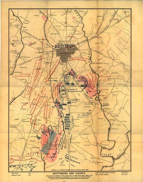gettysburg map maps of the field of gettysburg