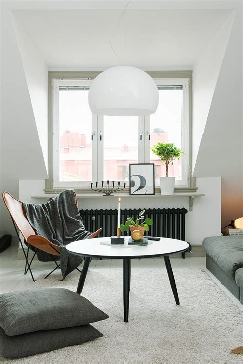 decordots scandinavian apartment with sloped ceiling