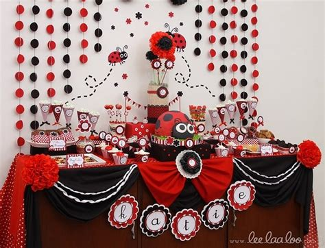 Ladybug Birthday Decorations by Backdrop For Ladybug Ladybug Birthday Backdrops Circles And