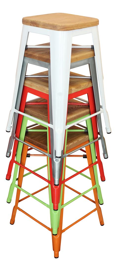 coloured metal bar stools for summer living