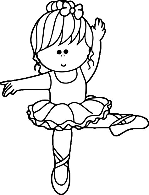 cute ballerina coloring pages cartoon ballerina coloring page wecoloringpage