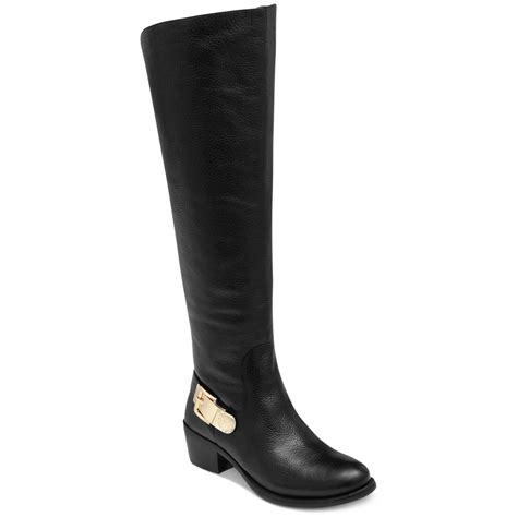 vince camuto black boots vince camuto bedina kneehigh boots in black lyst