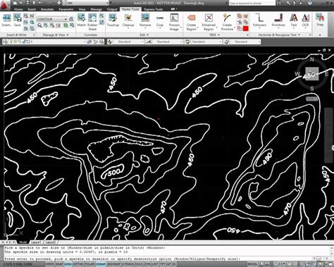 tutorial autocad raster design autocad raster design contour conversion youtube