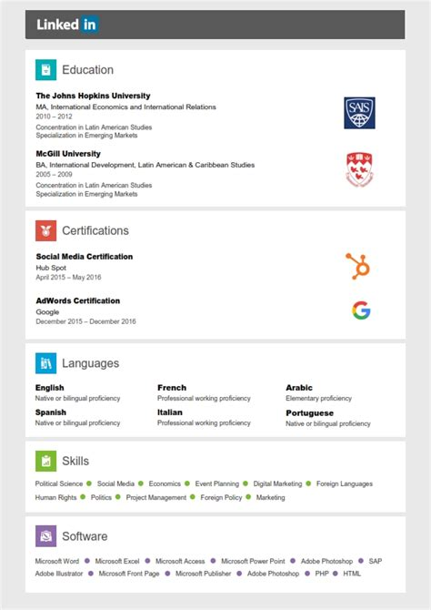 Export Linkedin Resume by Linkin Resume Resume Ideas
