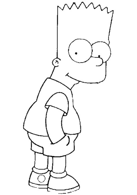 Free Printable Simpsons Coloring Pages For Kids Bart Color