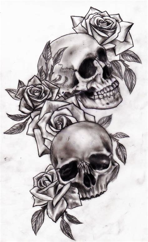 tattoo design rose and skull the 25 best ideas about skull tattoos on pinterest