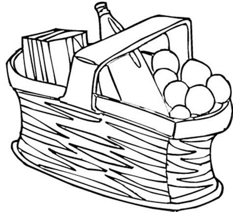 picnic basket adult coloring coloring pages