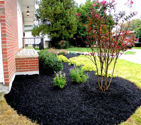 black mulch landscaping pictures home design inside