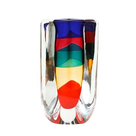 Italian Glass Vase by Venini Italian Glass Vase On Antique Row West Palm