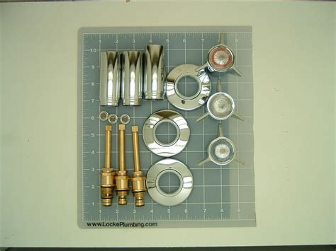 Sayco Plumbing Parts by Sayco Three Handle Tub And Shower Faucet Rebuild Kit