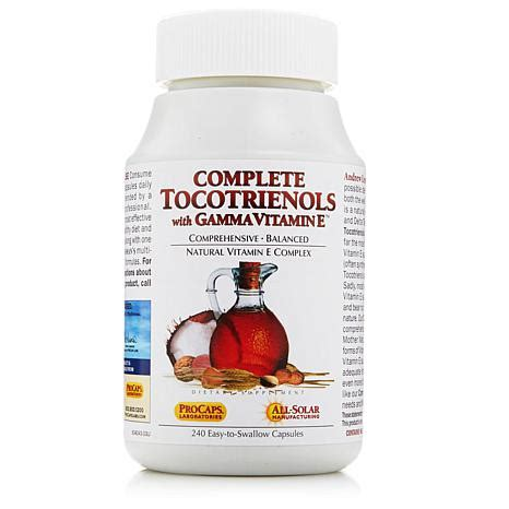hsn w supplement complete tocotrienols with gamma vitamin e hsn