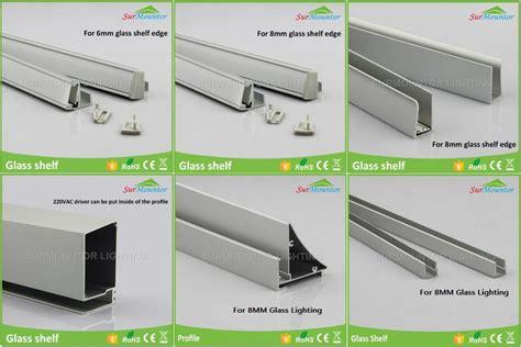 led glass shelf lighting 8mm glass edge lighting led profiles light glass