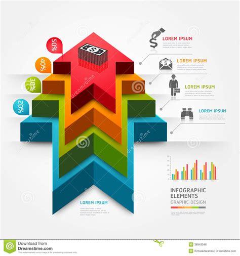 layout photos vector 3d step up arrow staircase diagram business stock vector