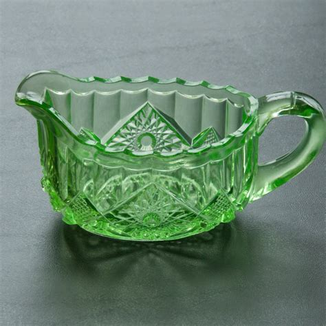 pattern glass roller eapg green glass creamer pattern glass from arttiques on