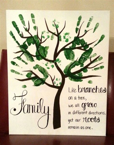 printable family tree art handprint art for grownups husband wife and puppy