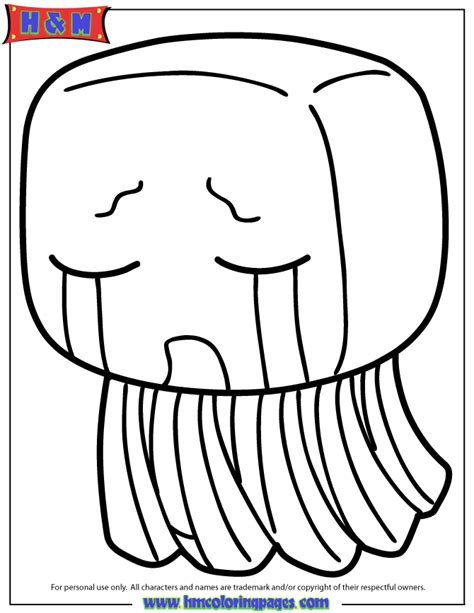 minecraft coloring pages ghast minecraft creature ghast coloring page h m coloring pages