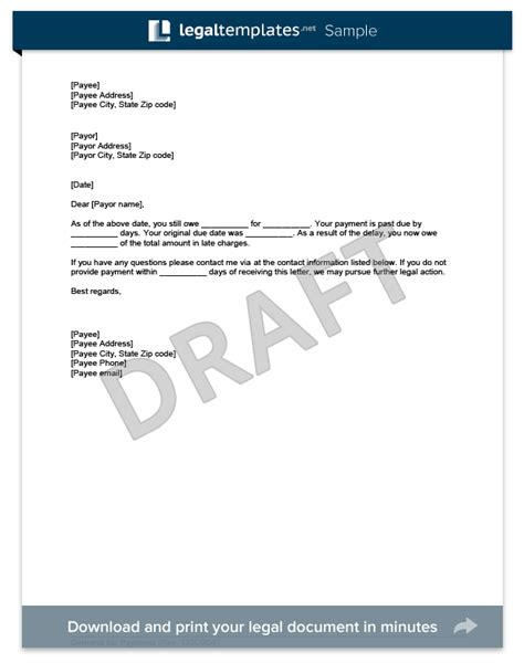 Demand Letter For Payment Template free demand for payment template sle create and