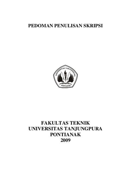 cara penulisan cover skripsi pedoman isi skripsi 29 mei 2009