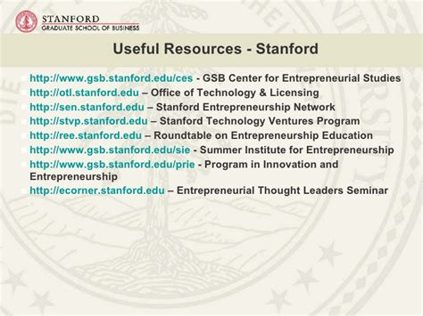 Stanford Mba Ceu by Center For Entrepreneurial Studies Nasf 2 12 2010