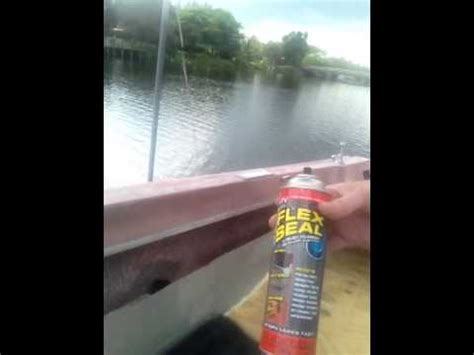 flex seal on boat rebuild boat deck and stringers with flex seal and treated