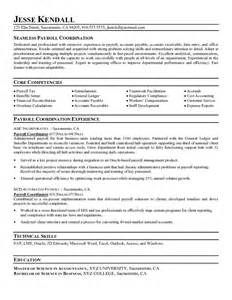 Payroll Resume Objective by Payroll Coordinator Resume Objective Image Search Results