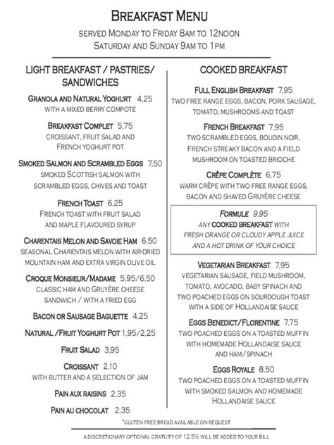 Breakfast Menu Template 2 Free Templates In Pdf Word Excel Download Brunch Menu Template Free