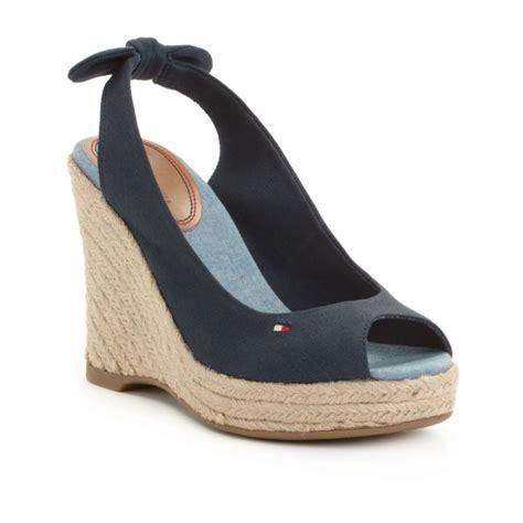 hilfiger wedge sandals hilfiger espadrille wedge sandals in blue