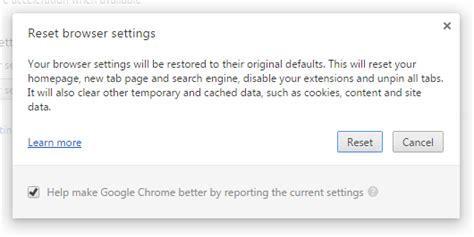 reset tool chrome removal tool for apps that interfere with chrome