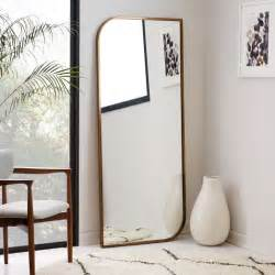 metal framed floor mirror rose gold west elm