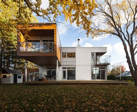 l house contemporary interpretation of quebec summer cottage l