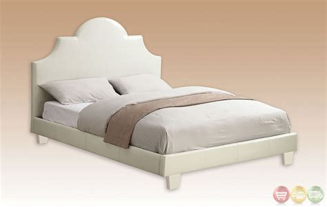 White Platform Bedroom Set by Aubonne European White Platform Bedroom Set With Headboard