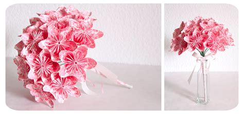 Origami Flower Wedding Bouquet - diy bouquet en origami