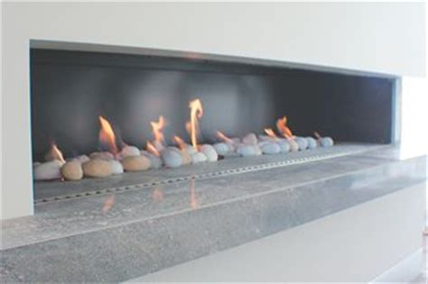 gas pebble fireplace my home ideas