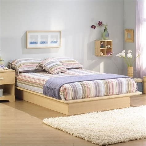 south shore copley light maple wood platform bed 4 piece