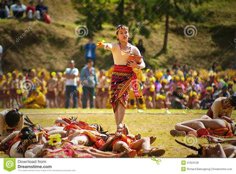 festival new year month of january baguio city igorot on flower festival editorial stock