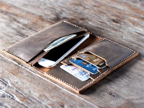Handmade Leather Iphone Wallet - iphone 7 leather wallet leather iphone iphone