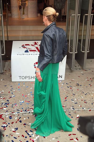 Kate Moss Shows Us Topshop Goodies In Store Today by Kate Moss In Topshop Topman Store Opening Ribbon Cutting