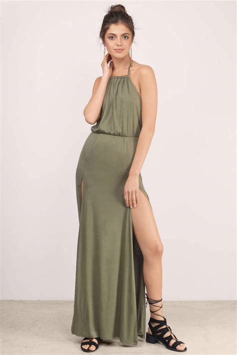 Dress Maxi Dress Wanita Maxi 1 mint maxi dress front slit dress maxi dress tobi