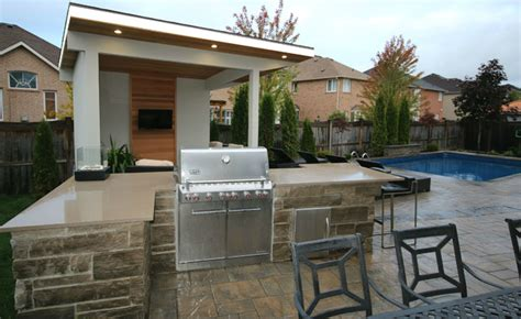 Kitchen Walls Decorating Ideas oakville cabana bbq island pool contemporary pool
