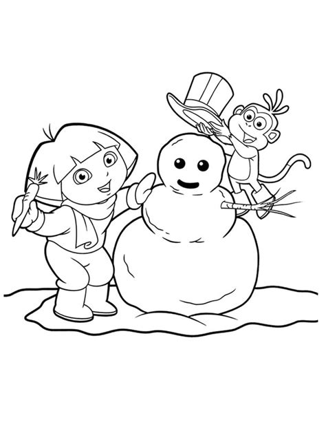dora puppy coloring page dora the explorer kids coloring pages free colouring