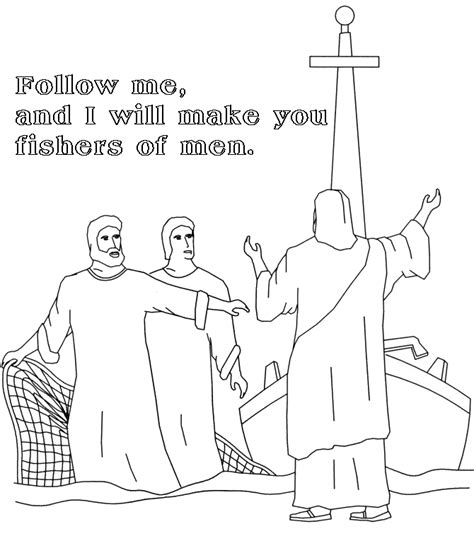 coloring pages jesus follow me the catholic toolbox gospel for the mass 1 26 14