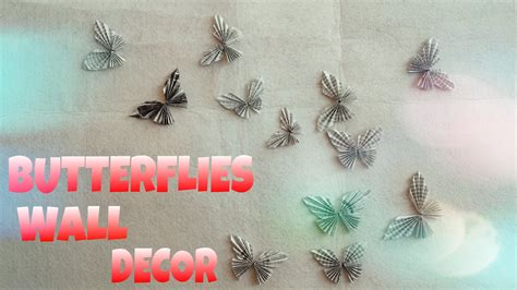 How To Make Paper Butterfly Wall Decor - diy room decor paper butterflies wall decor easy