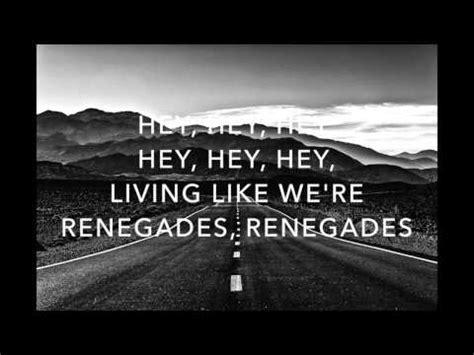 x lyrics renegades x ambassadors lyrics chords chordify